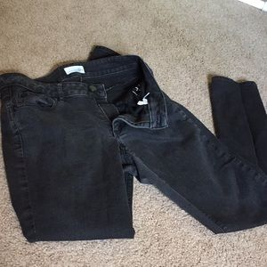 LOFT's Curvy Skinny Perfectly Faded Black Jeans